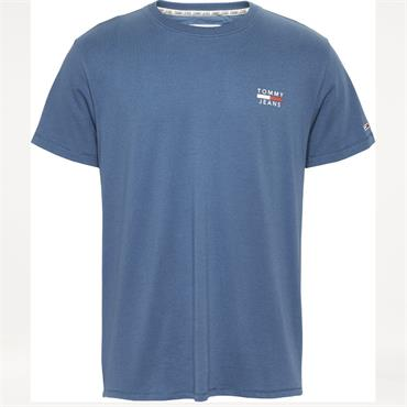 Tommy Jeans Crested Logo Tee - BLUE