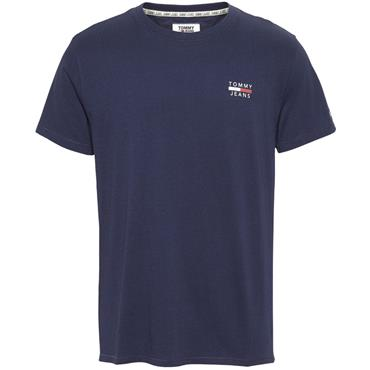 Tommy Jeans Crested Logo Tee - Navy