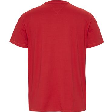 Tommy Jeans Crested Logo Tee - RED