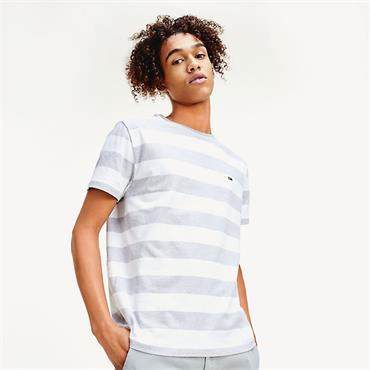 Tommy Jeans Bold Stripe Tee - WHITE