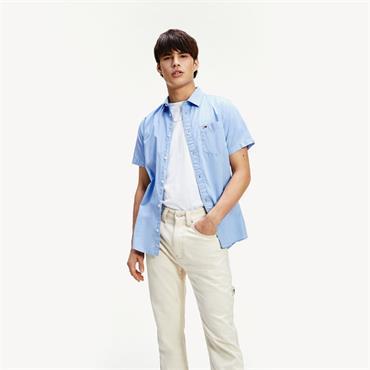 Tommy Jeans SS Poplin Shirt - BLUE