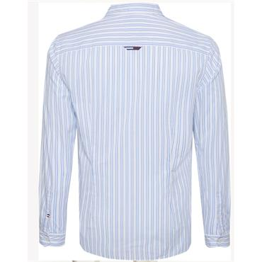 Tommy Jeans Stripe Stretch Poplin - WHITE
