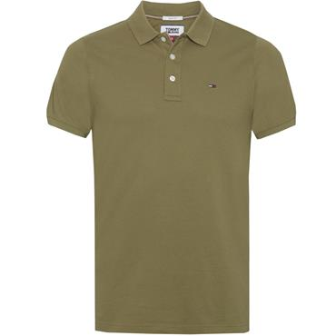 Tommy Jeans Polo - OLIVE