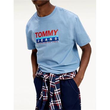 TJM Vintage Denim Blue Logo T-Shirt - LIGHT BLUE