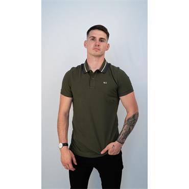 TJM Classics Tipped Stretch Polo - OLIVE