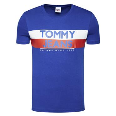 Contrast Colour Tommy Tee - 054tommy Blue