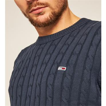 Tommy Jeans Cable Crew - Navy