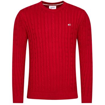 Tommy Jeans Cable Crew - RED