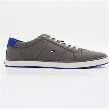Canvas Lace Up Trainers - GREY