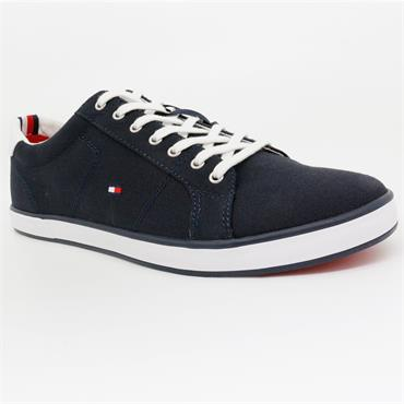 Canvas Lace Up Trainers - MIDNIGHT