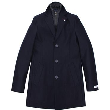 Heath Fleck Coat - Navy