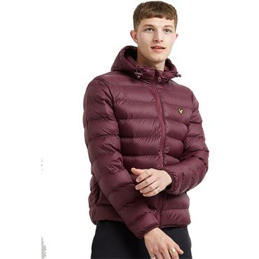 Lightweight Puffer Jacket - BURGUNDY