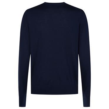 Superior Wool Crew Neck Sweater - Navy