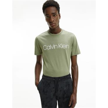 Cotton Front Logo T-Shirt - GREEN