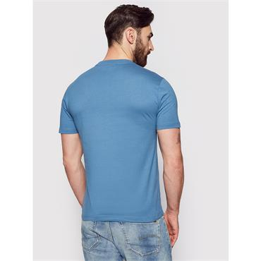 Cotton Chest Logo T-Shirt - BLUE