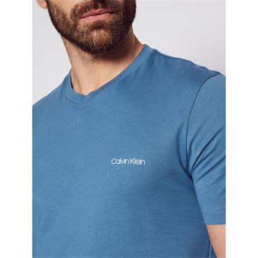 Cotton Chest Logo T-Shirt - BLUE