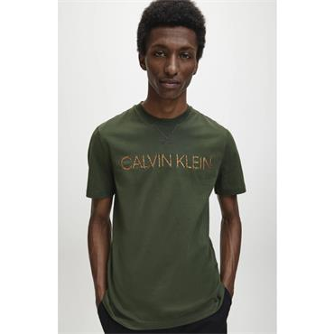 Multi Embroidery T-Shirt - OLIVE
