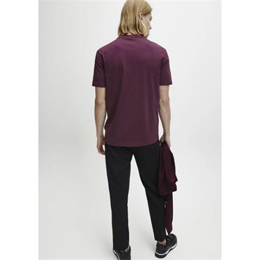 Multi Embroidery T-Shirt - WINE