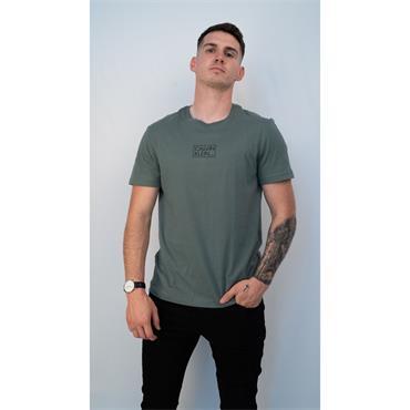Calvin Chest Box Logo T-Shirt - GREEN