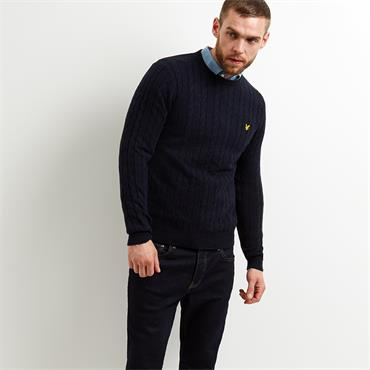 CABLE JUMPER   LYLE&SCOTT - Dark Navy