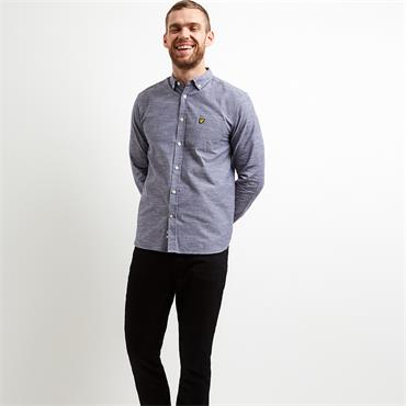 Space Dye Oxford Shirt - Navy