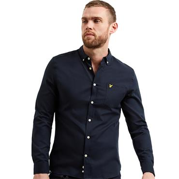 Slim Fit Oxford Shirt - Dark Navy