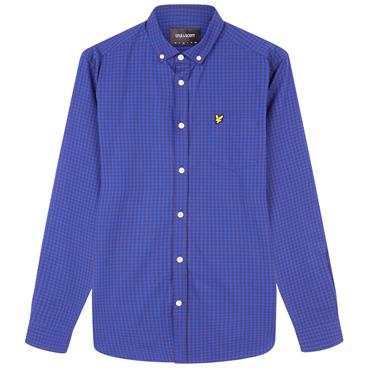 LS S/F GINGHAM SHIRT LYLE&SCOTT - Duke Blue