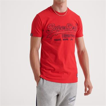 Dowhill Racer Applique Tee - RED