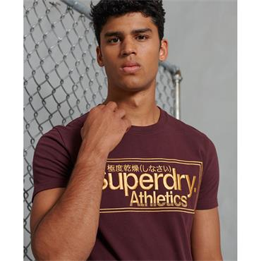Superdry Logo Tee - BURGUNDY