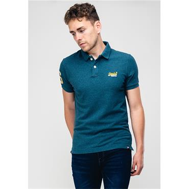 Classic Peek Polo - Carbon Blue