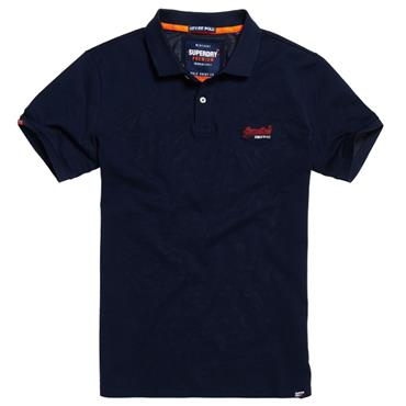 MERCERISED LITE CITY POLO  S/DRY - NAVY