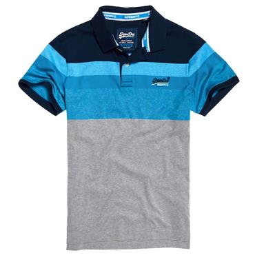 MIAMI FEEDER POLO   S/DRY - NAVY