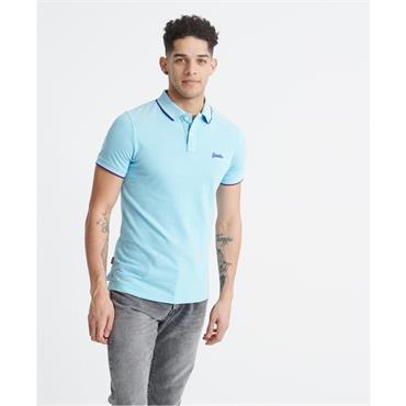 Superdry Poolside Polo - LIGHT BLUE