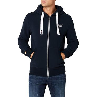 SUPERDRY ORANGE LABEL ZIPHOOD - NAVY ECLIPSE