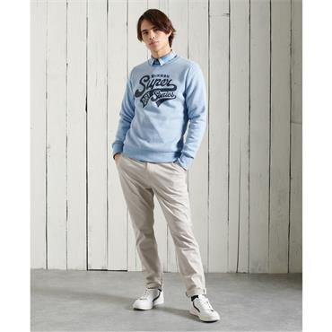 Collegiate Crew Neck - LIGHT BLUE