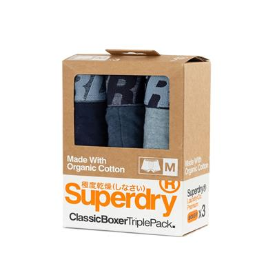 Superdry Boxer Triple Pack - Navy