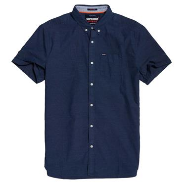 PREMIUM UNI OXFORD S/S SHIRT  S/DRY - FRENCH NAVY