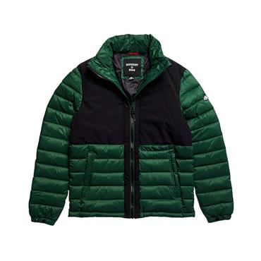 Non-Hooded Expedition Puffer Jacket - Dark Green