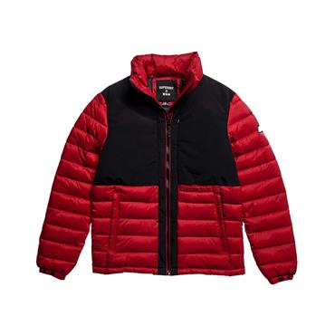 Non-Hooded Expedition Puffer Jacket - RED