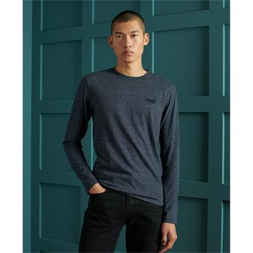 Superdry Long Sleeve Tee - Navy
