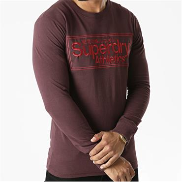 Superdry Crew Sweat - BURGUNDY
