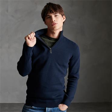 Superdry Half Zip - Navy