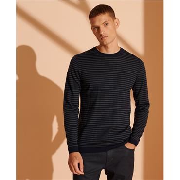 Superdry Merino Lightweight Crew - Navy
