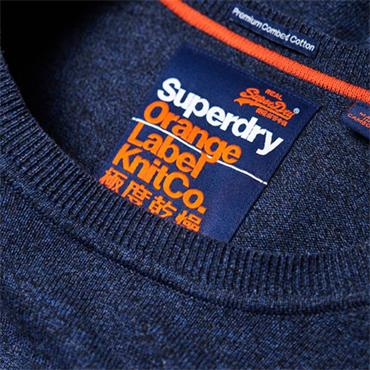 ORANGE LAB COTTON CREW JUMPER S/DRY - BLUE