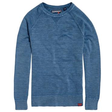 GARMENT DYED L.A. CREW JUMPER S/DRY - Light Blue