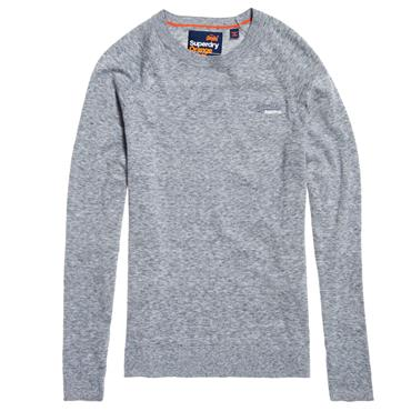 ORANGE LAB COTTON CREW JUMPER S/DRY - CAPE BLUE