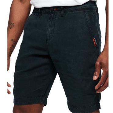 INTER. LINEN CHINO SHORT  S/DRY - Navy