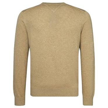 COTTON SILK C-NK JUMPER    HILFIGER - SAFARI
