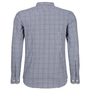 SLIM PRINCE OF WALES SHIRT  HILFIGER - 902BLUE