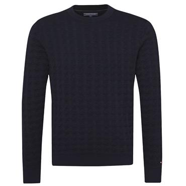 GRAPHICAL HOUNDSTOOT JUMPER HILFIGER - NAVY